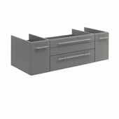 Lucera 48'' Gray Wall Hung Undermount Sink Modern Bathroom Vanity Base Cabinet Only, 47-1/5''W x 20''D x 15''H