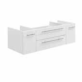 Lucera 48'' White Wall Hung Undermount Sink Modern Bathroom Vanity Base Cabinet Only, 47-1/5''W x 20''D x 15''H