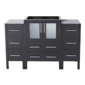 Torino 48'' Espresso Modern Vanity Base Cabinets, 47-3/4'' W x 17-3/4'' D x 33-3/4'' H