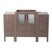 Torino 48'' Gray Oak Modern Vanity Base Cabinets, 47-3/4'' W x 17-3/4'' D x 33-3/4'' H