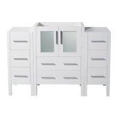 Torino 48'' White Modern Vanity Base Cabinets, 47-3/4'' W x 17-3/4'' D x 33-3/4'' H