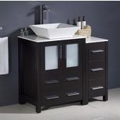 Torino 36'' Wide Espresso Modern Bathroom Cabinets w/ Top & Vessel Sink