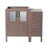Torino 36'' Gray Oak Modern Vanity Base Cabinets, 35-3/4'' W x 17-3/4'' D x 33-3/4'' H