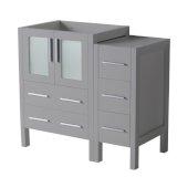 Torino 36'' Gray Modern Bathroom Vanity Cabinets, 35-3/4'' W x 17-3/4'' D x 33-3/4'' H