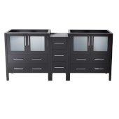 Torino 72'' Espresso Modern Vanity Base Cabinets, 71-1/2'' W x 17-3/4'' D x 33-3/4'' H