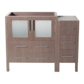 Torino 42'' Gray Oak Modern Vanity Base Cabinet, 41-3/4'' W x 17-3/4'' D x 33-3/4'' H