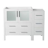 Torino 42'' White Modern Vanity Base Cabinet, 41-3/4'' W x 17-3/4'' D x 33-3/4'' H
