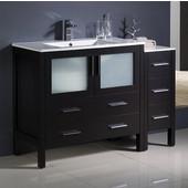 Torino 48'' Wide Espresso Modern Bathroom Cabinets w/ Integrated Sink