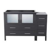 Torino 48'' Espresso Modern Vanity Base Cabinets, 47-1/2'' W x 17-3/4'' D x 33-3/4'' H