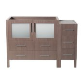 Torino 48'' Gray Oak Modern Vanity Base Cabinets, 47-1/2'' W x 17-3/4'' D x 33-3/4'' H