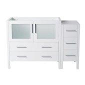Torino 48'' White Modern Vanity Base Cabinets, 47-1/2'' W x 17-3/4'' D x 33-3/4'' H