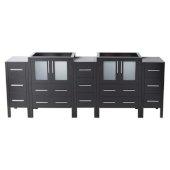Torino 84'' Espresso Modern Vanity Base Cabinets, 83-1/2'' W x 17-3/4'' D x 33-3/4'' H