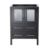 Torino 24'' Espresso Modern Vanity Base Cabinet, 23-3/4'' W x 17-3/4'' D x 33-3/4'' H