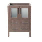 Torino 24'' Gray Oak Modern Vanity Base Cabinet, 23-3/4'' W x 17-3/4'' D x 33-3/4'' H
