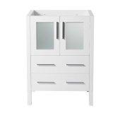 Torino 24'' White Modern Vanity Base Cabinet, 23-3/4'' W x 17-3/4'' D x 33-3/4'' H