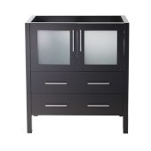 Torino 30'' Espresso Modern Vanity Base Cabinet, 29-3/4'' W x 17-3/4'' D x 33-3/4'' H
