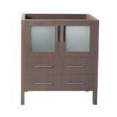 Torino 30'' Gray Oak Modern Vanity Base Cabinet, 29-3/4'' W x 17-3/4'' D x 33-3/4'' H