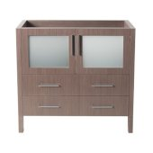 Torino 36'' Gray Oak Modern Vanity Base Cabinet, 35-1/2'' W x 17-3/4'' D x 33-3/4'' H