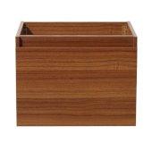 Nano 24'' Teak Modern Vanity Base Cabinet, 23-3/8'' W x 18-3/4'' D x 17-3/4'' H