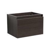 Mezzo 30'' Gray Oak Wall Hung Modern Bathroom Vanity Base Cabinet, 29-5/16'' W x 18-3/4'' D x 17-5/8'' H
