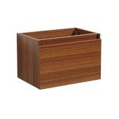 Mezzo 30'' Teak Wall Hung Modern Bathroom Vanity Base Cabinet, 29-5/16'' W x 18-3/4'' D x 17-5/8'' H