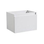 Mezzo 30'' White Wall Hung Modern Bathroom Vanity Base Cabinet, 29-5/16'' W x 18-3/4'' D x 17-5/8'' H