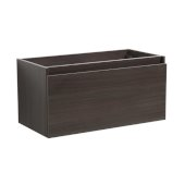 Mezzo 36'' Gray Oak Wall Hung Modern Bathroom Vanity Base Cabinet, 35-3/16'' W x 18-3/4'' D x 17-5/8'' H