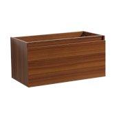 Mezzo 36'' Teak Wall Hung Modern Bathroom Vanity Base Cabinet, 35-3/16'' W x 18-3/4'' D x 17-5/8'' H