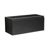 Mezzo 48'' Black Wall Hung Modern Bathroom Vanity Base Cabinet, 47'' W x 18-3/4'' D x 17-5/8'' H