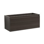 Mezzo 48'' Gray Oak Wall Hung Modern Bathroom Vanity Base Cabinet, 47'' W x 18-3/4'' D x 17-5/8'' H