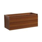 Mezzo 48'' Teak Wall Hung Modern Bathroom Vanity Base Cabinet, 47'' W x 18-3/4'' D x 17-5/8'' H