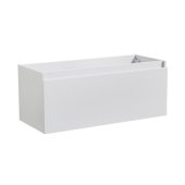 Mezzo 48'' White Wall Hung Modern Bathroom Vanity Base Cabinet, 47'' W x 18-3/4'' D x 17-5/8'' H