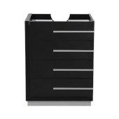 Livello 24'' Black Modern Vanity Base Cabinet, 23-3/8'' W x 18-5/8'' D x 29-1/2'' H