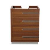 Livello 24'' Teak Modern Vanity Base Cabinet, 23-3/8'' W x 18-5/8'' D x 29-1/2'' H