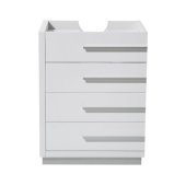 Livello 24'' White Modern Vanity Base Cabinet, 23-3/8'' W x 18-5/8'' D x 29-1/2'' H