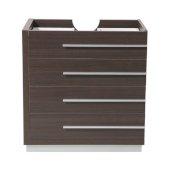 Livello 30'' Gray Oak Modern Vanity Base Cabinet, 29-3/8'' W x 18-3/4'' D x 29-1/2'' H