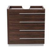 Livello 30'' Walnut Modern Vanity Base Cabinet, 29-3/8'' W x 18-3/4'' D x 29-1/2'' H
