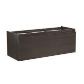 Mezzo 60'' Gray Oak Wall Hung Single Sink Modern Bathroom Vanity Base Cabinet, 59'' W x 18-3/4'' D x 17-5/8'' H