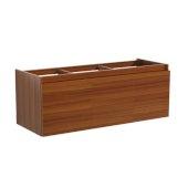 Mezzo 60'' Teak Wall Hung Single Sink Modern Bathroom Vanity Base Cabinet, 59'' W x 18-3/4'' D x 17-5/8'' H