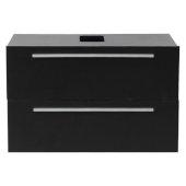 Medio 32'' Black Modern Vanity Base Cabinet, 31-3/8'' W x 18-3/4'' D x 19-1/2'' H