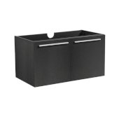 Vista 30'' Black Wall Hung Modern Bathroom Vanity Base Cabinet, 29-5/16'' W x 18-3/4'' D x 17-5/8'' H