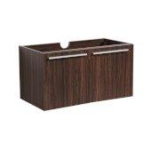 Vista 30'' Walnut Wall Hung Modern Bathroom Vanity Base Cabinet, 29-5/16'' W x 18-3/4'' D x 17-5/8'' H