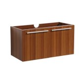 Vista 30'' Teak Wall Hung Modern Bathroom Vanity Base Cabinet, 29-5/16'' W x 18-3/4'' D x 17-5/8'' H