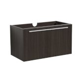 Vista 36'' Black Modern Bathroom Vanity Base Cabinet, 35-3/8'' W x 18-3/4'' D x 17-3/4'' H