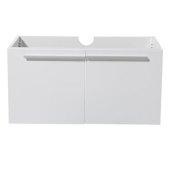 Vista 36'' White Modern Bathroom Base Cabinet, 35-3/8'' W x 18-3/4'' D x 17-3/4'' H