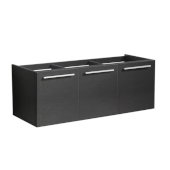 Vista 48'' Black Wall Hung Modern Bathroom Vanity Base Cabinet, 47'' W x 18-3/4'' D x 17-5/8'' H