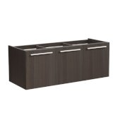 Vista 48'' Gray Oak Wall Hung Modern Bathroom Vanity Base Cabinet, 47'' W x 18-3/4'' D x 17-5/8'' H