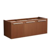 Vista 48'' Teak Wall Hung Modern Bathroom Vanity Base Cabinet, 47'' W x 18-3/4'' D x 17-5/8'' H