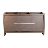 Allier 60'' Gray Oak Modern Double Sink Vanity Base Cabinet, 59-5/8'' W x 20-1/4'' D x 32-1/2'' H