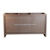 Allier 60'' Gray Oak Modern Double Sink Vanity Base Cabinet, 59-5/8'' W x 20-1/4'' D x 32-1/2'' H